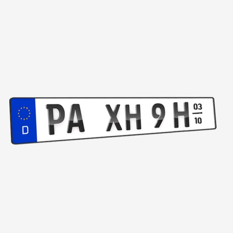 3D H-Kennzeichen mit Saison Hochglanz 520 mm