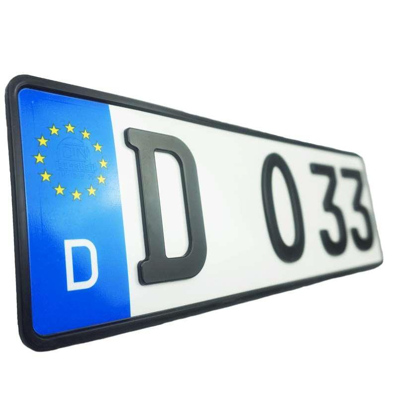 Autokennzeichen Vom Patentinhaber 3d Kennzeichen Gmbh