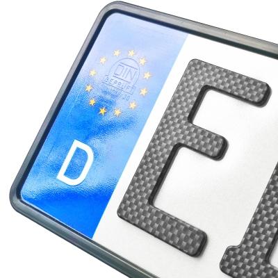 3D Kennzeichen in Carbonoptik MÜSSEN gesiegelt werden